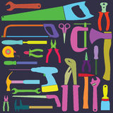 Herramientas de los colores Imagen de archivo libre de regalías