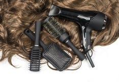 Herramientas de los peluqueros Imagen de archivo libre de regalías