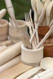 Herramientas de madera Foto de archivo libre de regalías