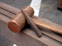 Herramientas de madera fotografía de archivo libre de regalías