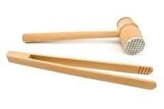 Herramientas de madera de la cocina Fotografía de archivo