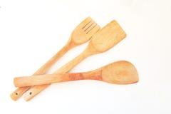 Herramientas de madera de la cocina Fotos de archivo libres de regalías