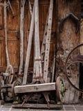Herramientas de madera de la agricultura Imagen de archivo libre de regalías