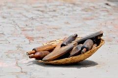 Herramientas de madera para la cocina Imagenes de archivo