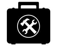 Herramientas de mano de la caja de almacenamiento Imagen de archivo libre de regalías