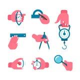 Herramientas de mano de la medida Imágenes de archivo libres de regalías