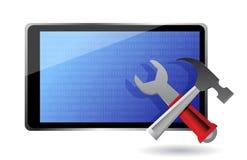 Herramientas de regulación de la tableta Fotografía de archivo libre de regalías