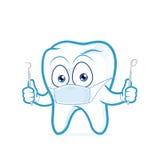 Herramientas de tenencia del dentista del diente ilustración del vector