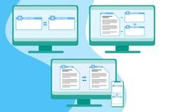 Herramientas de traducción en línea stock de ilustración