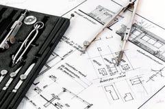 Herramientas de un arquitecto Imagen de archivo