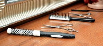 Herramientas del peluquero Imagen de archivo libre de regalías