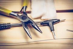 Herramientas de Vaping Imagen de archivo libre de regalías