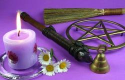 Herramientas de Wiccan Fotografía de archivo libre de regalías