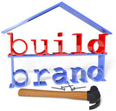 Herramientas del anuncio de la promoción de la marca del negocio de la estructura Imagen de archivo libre de regalías