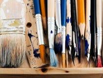 Herramientas del arte. Imagen de archivo libre de regalías
