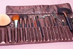 Herramientas del artista de maquillaje Foto de archivo libre de regalías