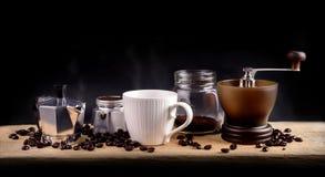 Herramientas del café, aún tiro de la vida Imagen de archivo libre de regalías