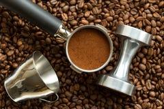 Herramientas del café express Imagen de archivo