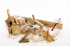 Herramientas del carpintero Foto de archivo libre de regalías