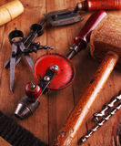 Herramientas del carpintero Fotografía de archivo