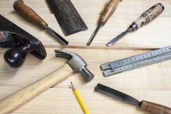 Herramientas del carpintero Imagen de archivo