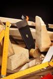 Herramientas del carpintero Imagen de archivo libre de regalías