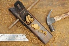 Herramientas del carpintero Fotografía de archivo libre de regalías