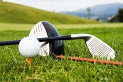 Herramientas del deporte del golf Fotografía de archivo