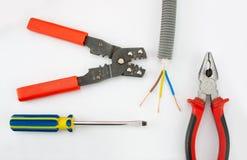 Herramientas del electricista Fotos de archivo