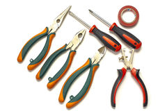Herramientas del electricista Fotografía de archivo libre de regalías