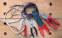 Herramientas del electricista Foto de archivo libre de regalías