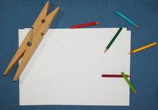 Herramientas del escolar para hacer su arte imágenes de archivo libres de regalías