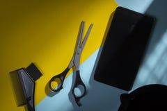 Herramientas del estilista para el peluquero imagen de archivo libre de regalías