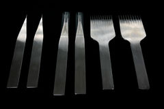 Herramientas del grabado para los accesorios de cuero Fotografía de archivo