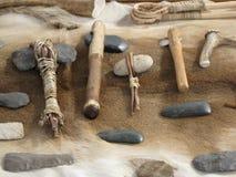 herramientas del indio del nativo americano Imágenes de archivo libres de regalías