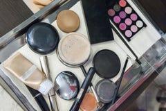 Herramientas del maquillaje Fotos de archivo