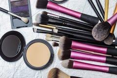 Herramientas del maquillaje foto de archivo libre de regalías
