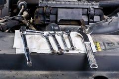 Herramientas del mecánico Fotos de archivo libres de regalías