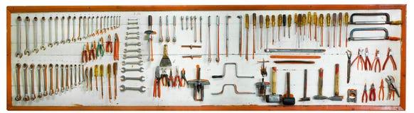 Herramientas del mecánico de coche fotografía de archivo libre de regalías
