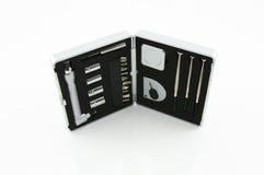 Herramientas del mecánico en el fondo blanco Imagen de archivo