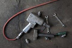 Herramientas del mecánico Imagen de archivo libre de regalías