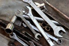 Herramientas del motor de coche Imagen de archivo libre de regalías