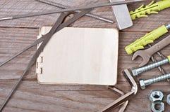 Herramientas del papel y de la trabajo de metalistería Imágenes de archivo libres de regalías