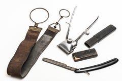 Herramientas del peluquero del vintage Fotografía de archivo libre de regalías
