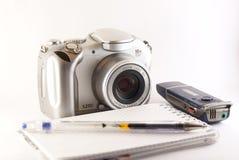 Herramientas del periodista Foto de archivo libre de regalías