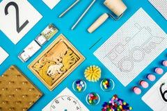 Herramientas del preescolar de Montessori Imagen de archivo