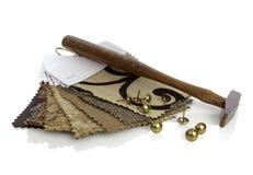 Herramientas del tapicero fotografía de archivo