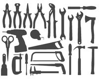 Herramientas del trabajo de mano Stock de ilustración
