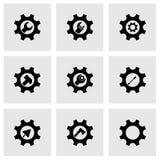 Herramientas del vector en sistema del icono del engranaje Fotos de archivo libres de regalías