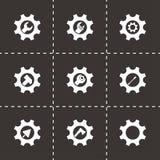 Herramientas del vector en sistema del icono del engranaje Foto de archivo libre de regalías